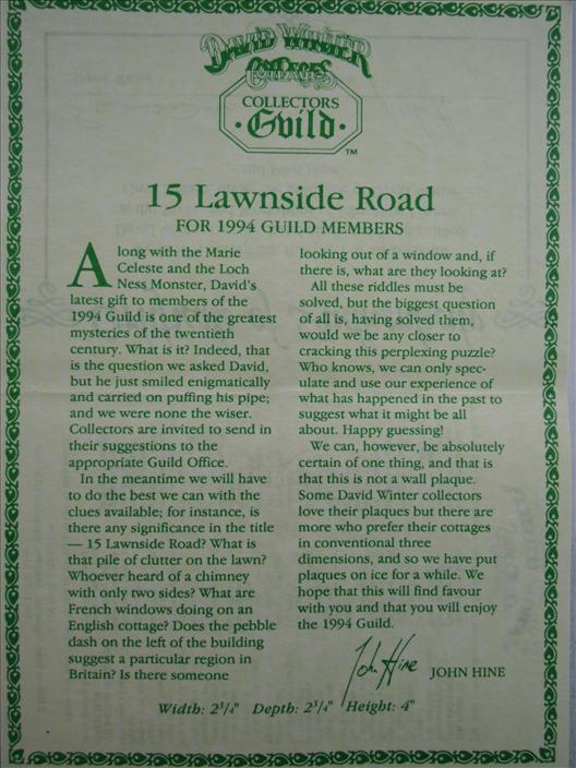15 Lawnside Road (Imperfect)