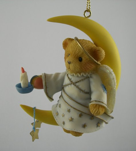 Angel Sitting On Moon Ornament