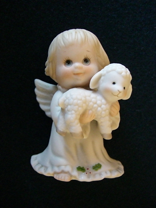 Angel Holding Lamb