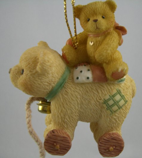 Antique Toy Bear With Teddie Ornament