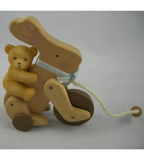 Antique Toy: Bear On Bunny