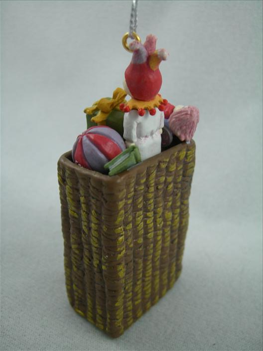 Basket With Toys Ornament