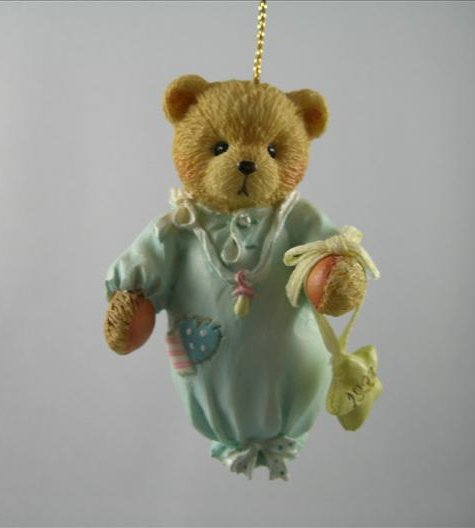 Baby Boy's First Christmas Bear Ornament