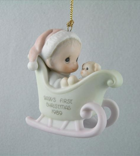 Baby's First Christmas 1989 Ornament (Boy)