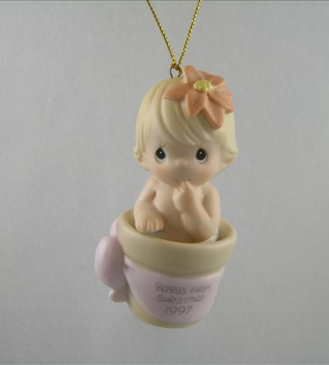 Baby's First Christmas 1997 Ornament (Girl)