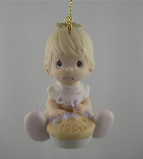 Baby's First Christmas 1990 Ornament (Girl)