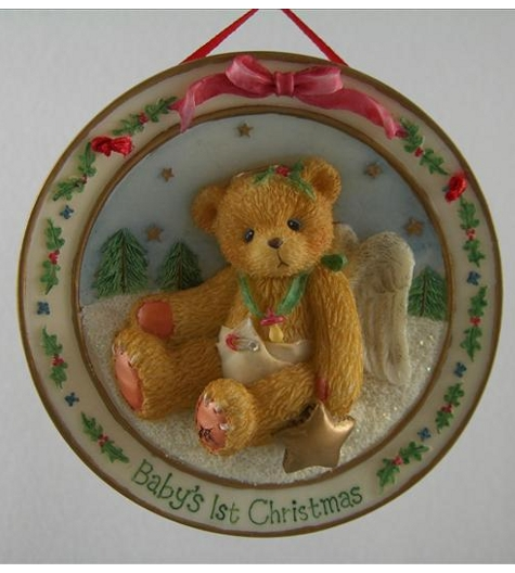 Baby's First Christmas Plate Ornament