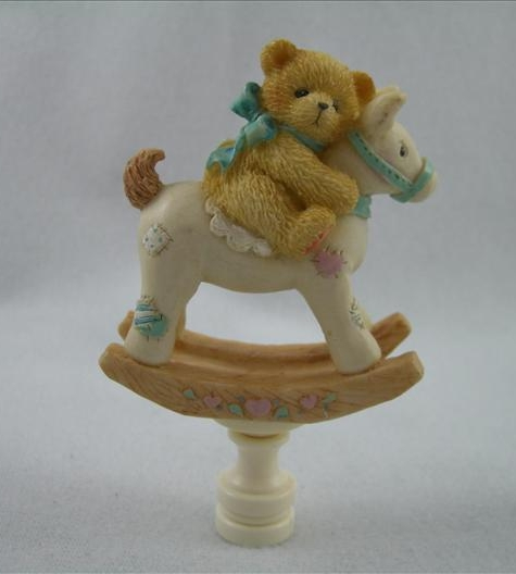 Bear On Rocking Horse Finial