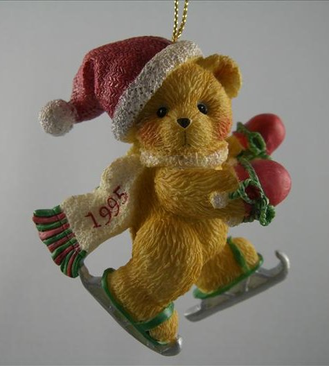Bear With Ice Skates Ornament