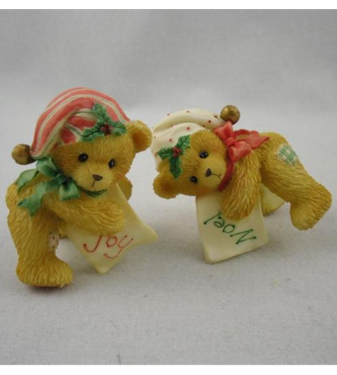 Bears With Stocking Hats Candle Huggers