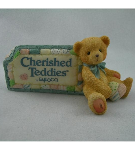 Cherished Teddies Dealer Plaque (Enesco)