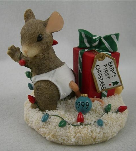 Baby's First Christmas 1999 Mouse