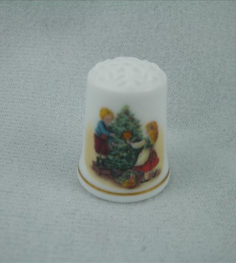 Keeping The Christmas Tradition Thimble