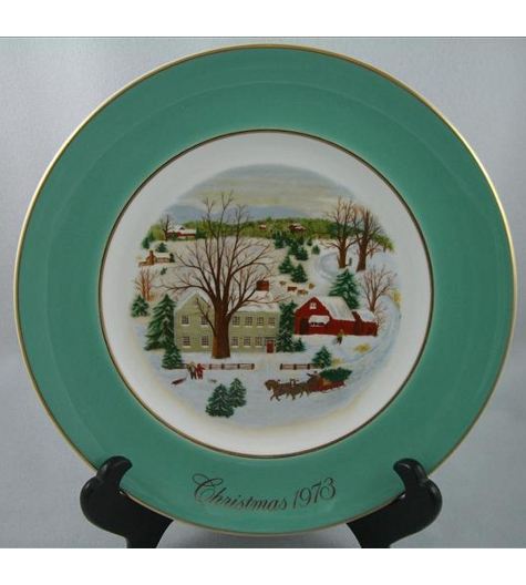 Christmas On The Farm Plate