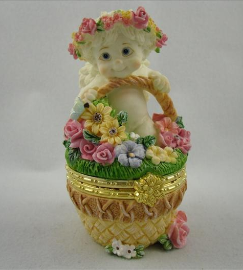 Flower Basket Hinged Box