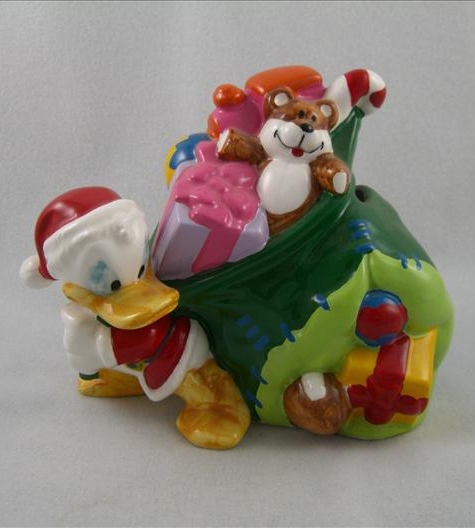 Donald As Santa With Toy Bag Bank