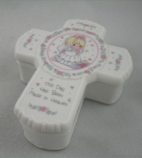 Communion Girl Cross-Shaped Box