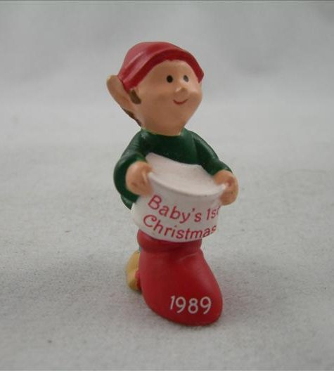 Merry Miniature Baby's First Christmas 1989