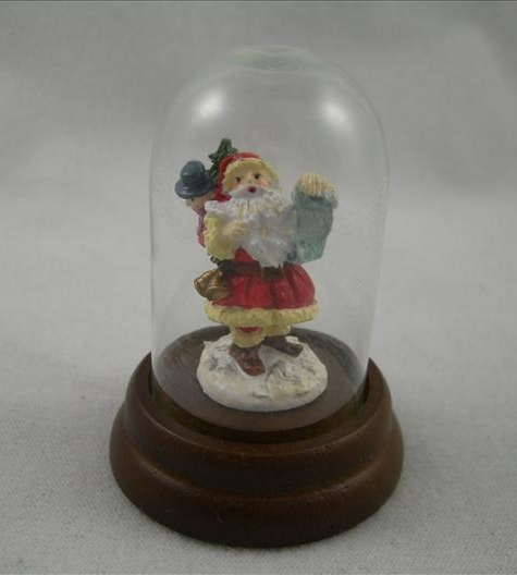 Santa With List Miniature