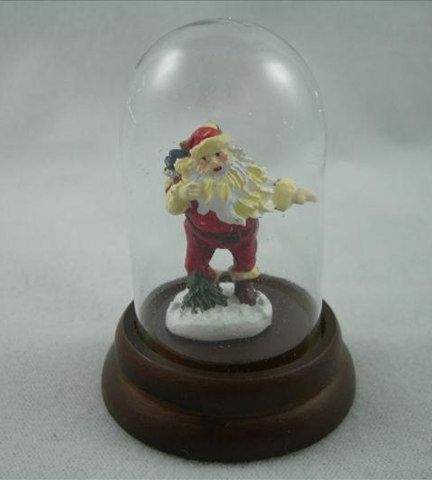 Santa With Pine Tree Miniature