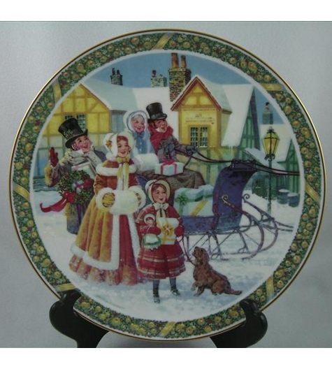 Here We Come A-Caroling Plate