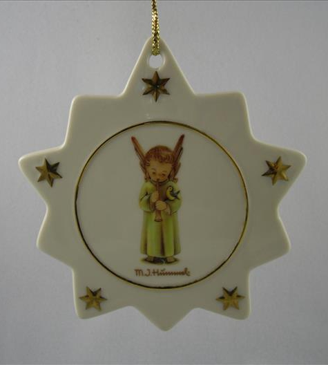 Angel Playing Trumpet Star Ornament