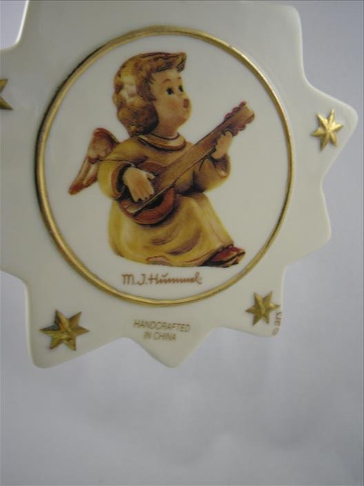 Angel Playing Lute Star Ornament