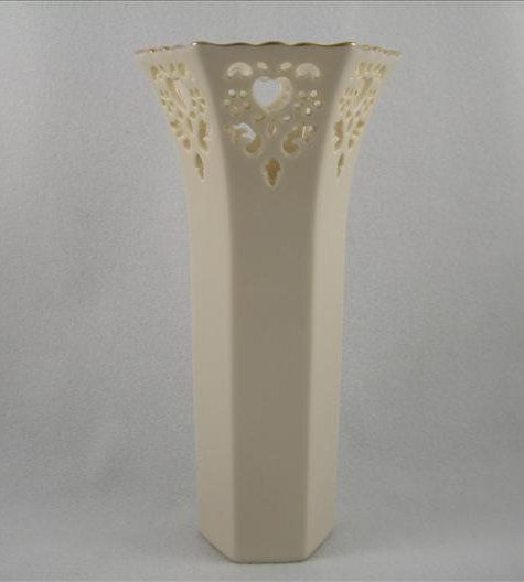 Hexagonal Eternal Hearts Pierced Vase