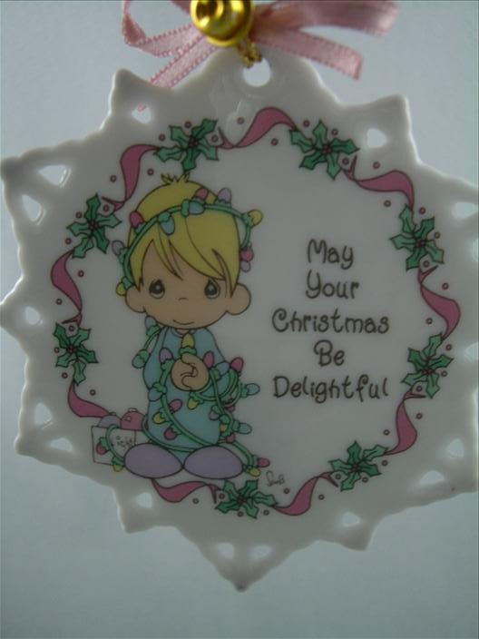 May Your Christmas Be Delightful Snowflake Ornament