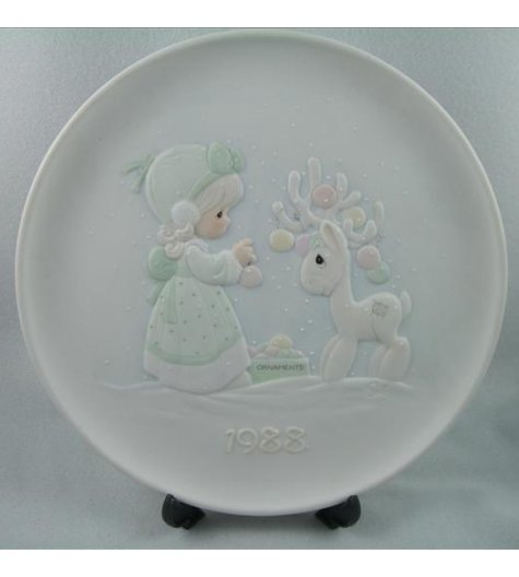 Merry Christmas Deer Plate