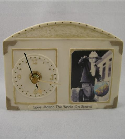 Boy With Globe Desk Clock