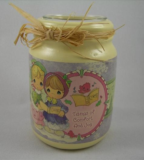 Tidings Of Comfort And Joy Candle Holder