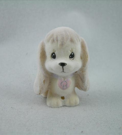 Flocked Resin Dog