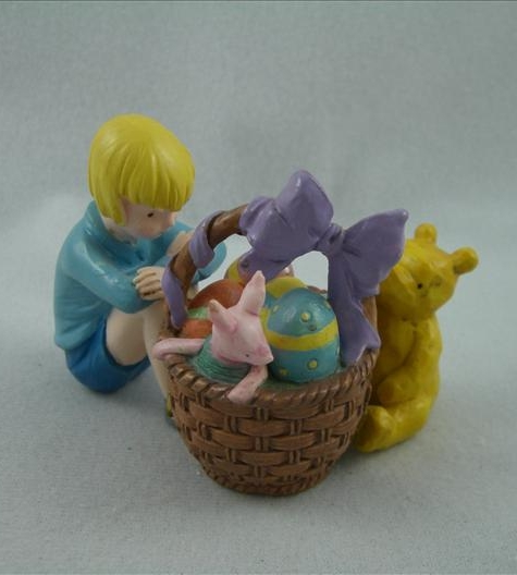 Pooh & Christopher Robin Easter Hinged Figurine