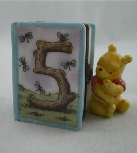 Pooh Fifth Birthday Hinged Photo Frame