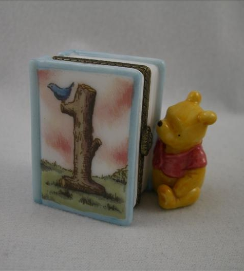 Pooh First Birthday Hinged Photo Frame