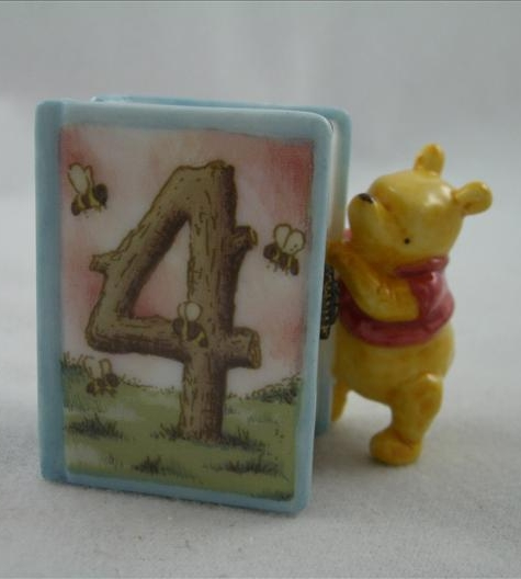 Pooh Fourth Birthday Hinged Photo Frame