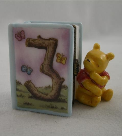 Pooh Third Birthday Hinged Photo Frame