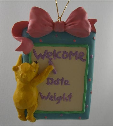 Pooh Welcome Baby Ornament