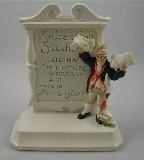 Sebastian Miniatures Dealer Plaque (New England - Knickerbocker)