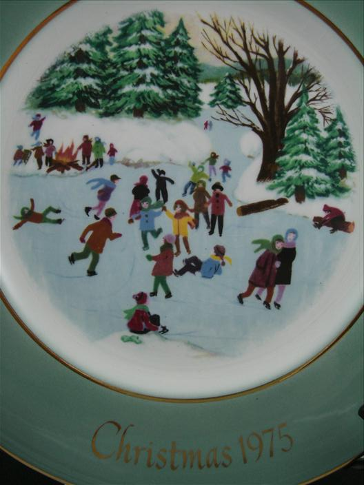 Skaters On The Pond Plate