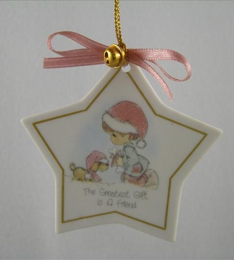 The Greatest Gift Is A Friend Star Ornament